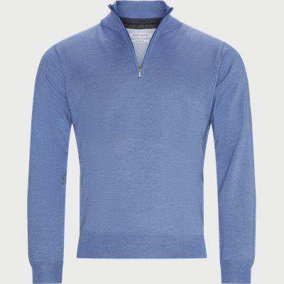 Panerea Half-Zip Striktrøje Regular | Panerea Half-Zip Striktrøje | Blå